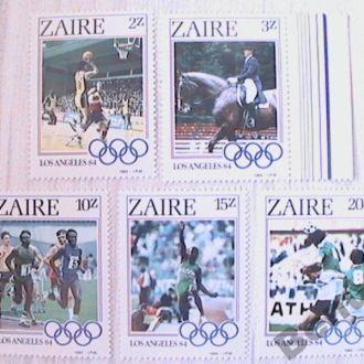 Заир 1984 Олимпиада