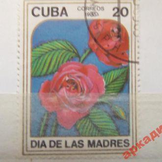 марки-Куба  с 1 гр 1985г-роза(А1) 1