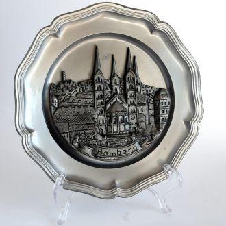 Тарелка панно Bamberg #1 олово 1960-е гг. Germany