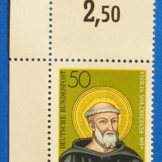 ФРГ. 1980 г. Святой Бенедикт