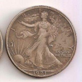 50 Центов США 1921 Half Dollar Walking Liberty