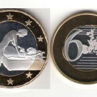 Монета 6 Sex Euros Позолота №21