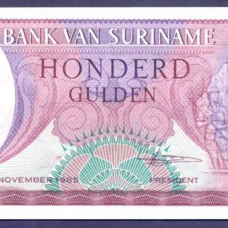Боны Америка Суринам 100 гульденов 1985 г.