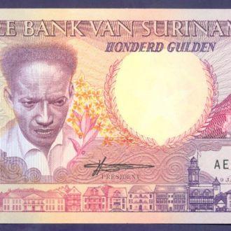 Боны Америка Суринам 100 гульденов 1988 г.