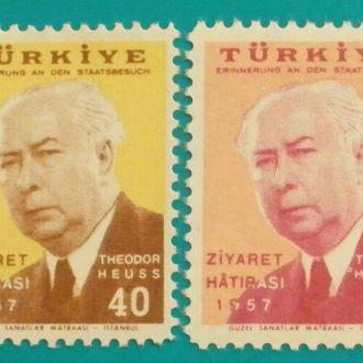 Турция.1957 г. Президент Германии Теодор Хаус