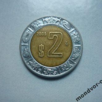 Мексика 2 песо 2005 биметалл