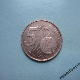 Нидерланды 5 евроцентов 1999