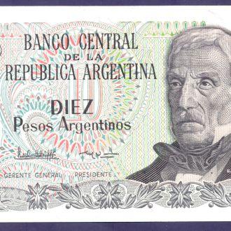 Боны Америка Аргентина 10 песо аргнтинос 1983 г.