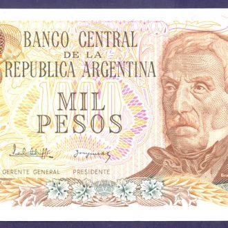 Боны Америка Аргентина 1000 песо 1973 г.