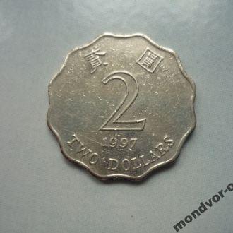 Гон Конг 2 доллара 1997 флора