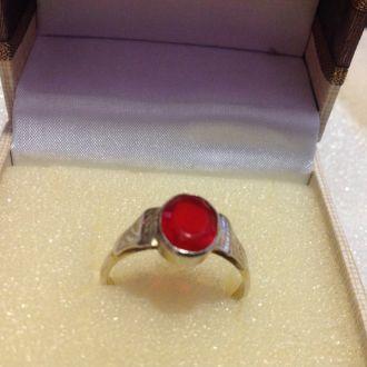 Кольцо серебро 875 звезда