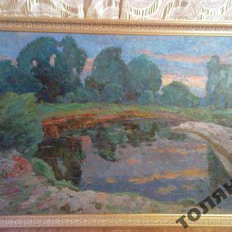 картина пейзаж севастьянов холст масло