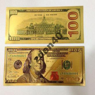 Счастливая банкнота  $100 gold banknote