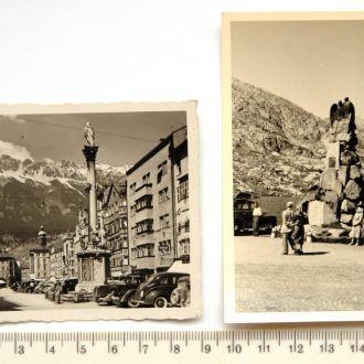 Старые фото В горы - на авто, 2 шт., 1950 Австрия