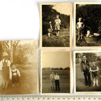 Старые фото Мальчики, 5 шт., сер. ХХ в. Германия