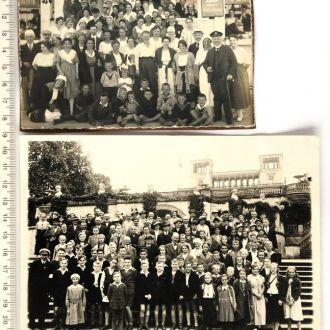 Старые групповые фото 2 шт, 1920-30-е гг, Германия