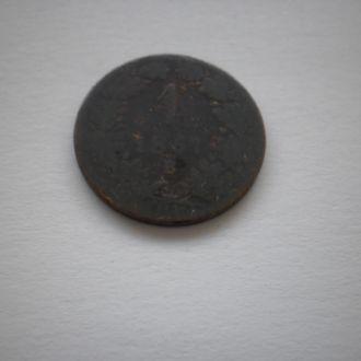 Монеті 155 років. АВСТРО-УГОРЩИНА. 1 крейцер 1861р