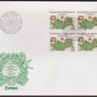 Лихтенштейн 1977 ТОПОГРАФИЧЕСКАЯ КАРТА ГЕРБ ГЕРАЛЬДИКА Два КПД Mi.667-668 EUR 9.00