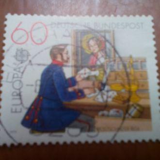 Марка Германия Почта гашеная