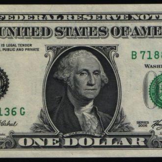 США USA 1 доллар 2006 г UNC