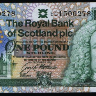 Шотландия/Scotland 1 Pound  1992 г UNC