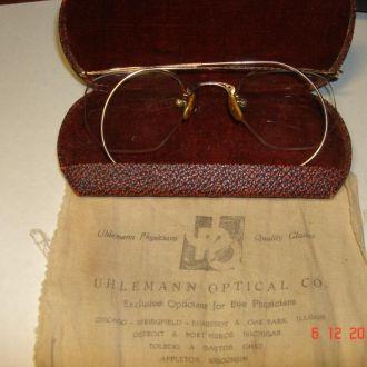 антикварные очки в футляре