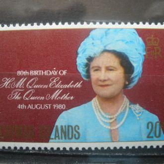 Острова Кайманские.1980г. Королева. MNH