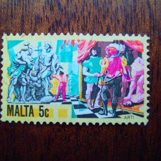 Мальта.1981г. Искусство. Скульптура. Театр. Цирк.
