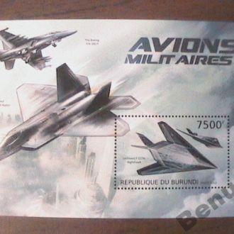 Бурунди 2012 MNH БЛ военная авиация