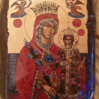 Икона Божией Матери Неувядаемый цвет Красивая!