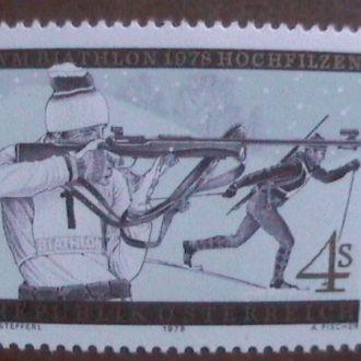 Австрия 1978 хх Спорт биатлон