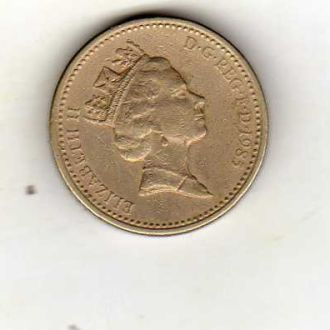 Великобритания 1 фунт 1985г