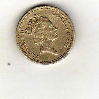 Великобритания 1 фунт 1983г