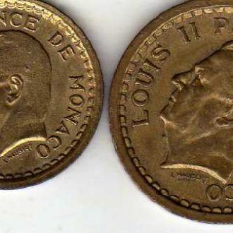 Монако 1 и 2 фр 1945