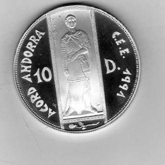 Андорра 10 д 1993г ECU
