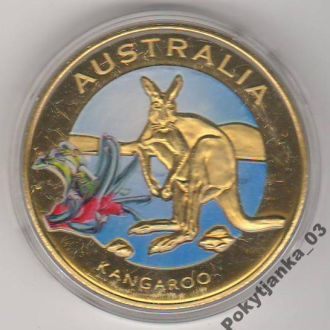 Австралия 2010 Жетон с цветным рисунком: кенгуру