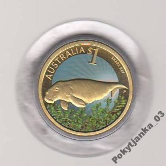 Австралия 1 Доллар Пролив (Ламантин) 2010
