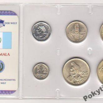 Набор монет ГВАТЕМАЛА блистер запайка пластик