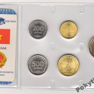 Набор монет ВЬЕТНАМ блистер запайка пластик