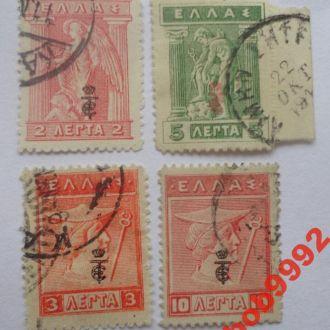 Греция 1916 г  Надпечатка
