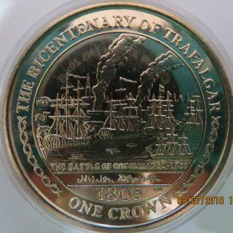 Остров Мэн ( Мен ) 1 крона 2005 год