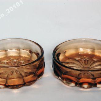 Ваза - художественное стекло, 2 штуки, СССР