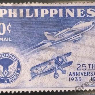 марки Филиппины 1960г самолет редкая