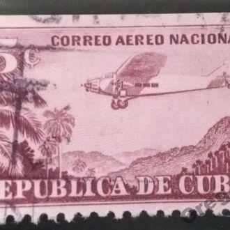 марки Куба старая самолет редкая
