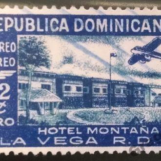марки Доминикана старая самолет редкая