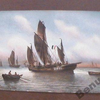 Венгрия открытка франкировка 1910 г.
