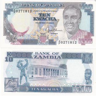 Zambia Замбия - 10 Kwacha 1991 UNC JavirNV