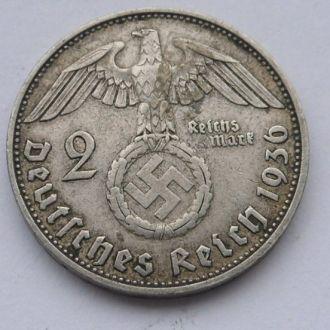 Германия 2 марки 1936 г D Редкая! №5