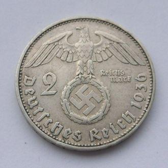 Германия 2 марки 1936 г D Редкая! №2