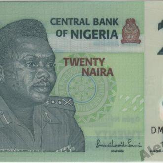 Нигерия 20 найра 2010 г. в UNC